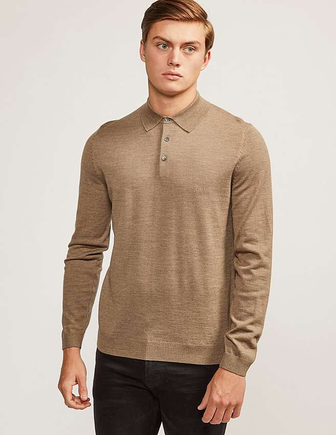 brown Boss Black Banet Polo Shirt