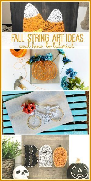 DIY fall string art ideas and tutorial MichaelsMakers Sugarbee Crafts