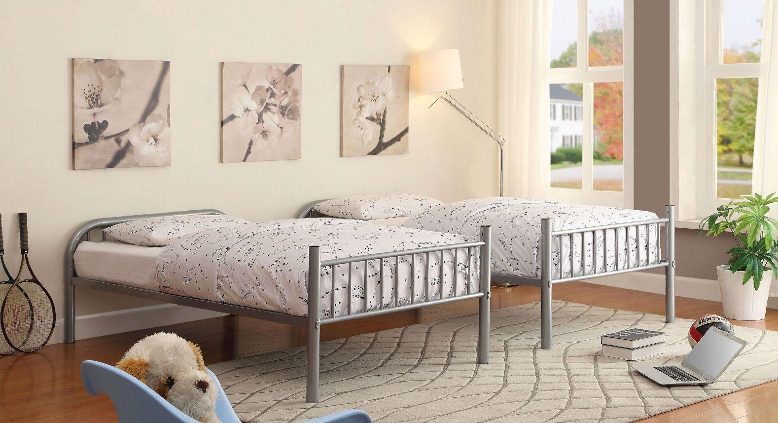 Rainbow Silver Twin/Twin Bunk Bed
