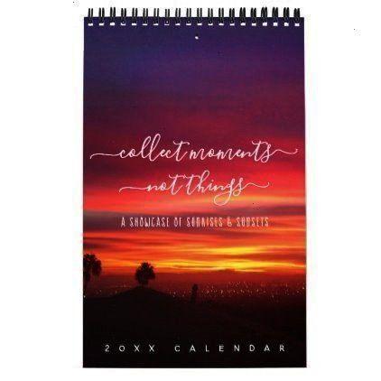 Page Calendar -Sunsets Quotes Landscape Photos One Page Calendar -Quotes Landscape Photos One Page