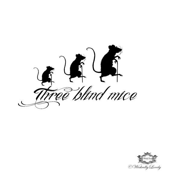 Three Blind Mice Wickedly Lovely Skin Art By