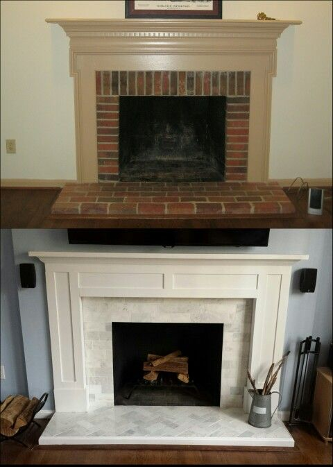 Before and After DIY fireplace renovation Inspired by Young House