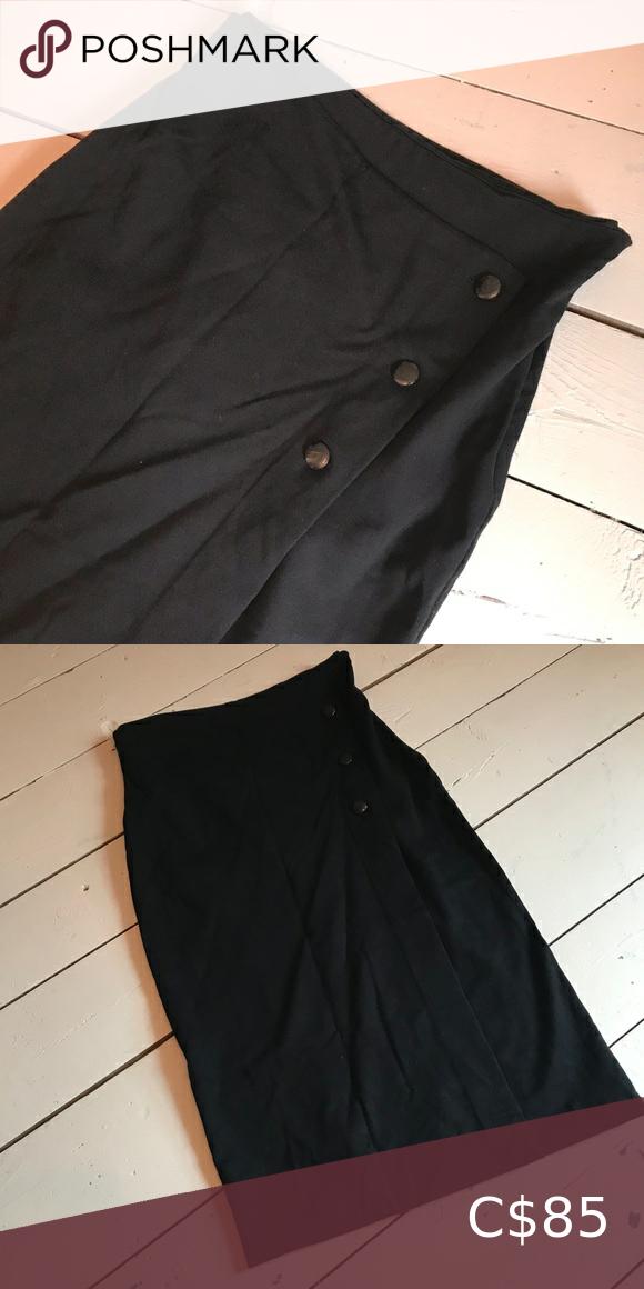 🖤 Aritzia BABATON High Waisted   Midi Skirt