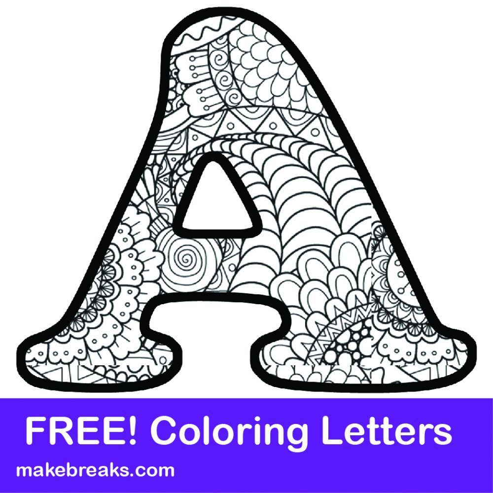 Printable Letter Alphabet Coloring Pages Alphabet