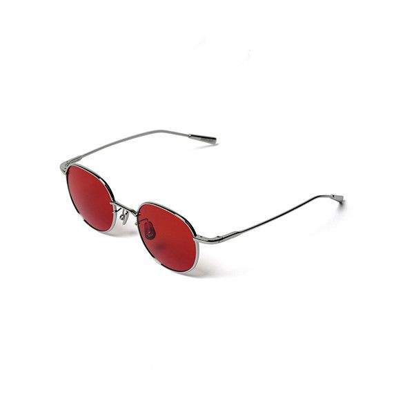 034f602910 AMBUSH KARLHEINZ SUNGLASS SILVER-RED ( 360) ❤ liked on Polyvore featuring  accessories