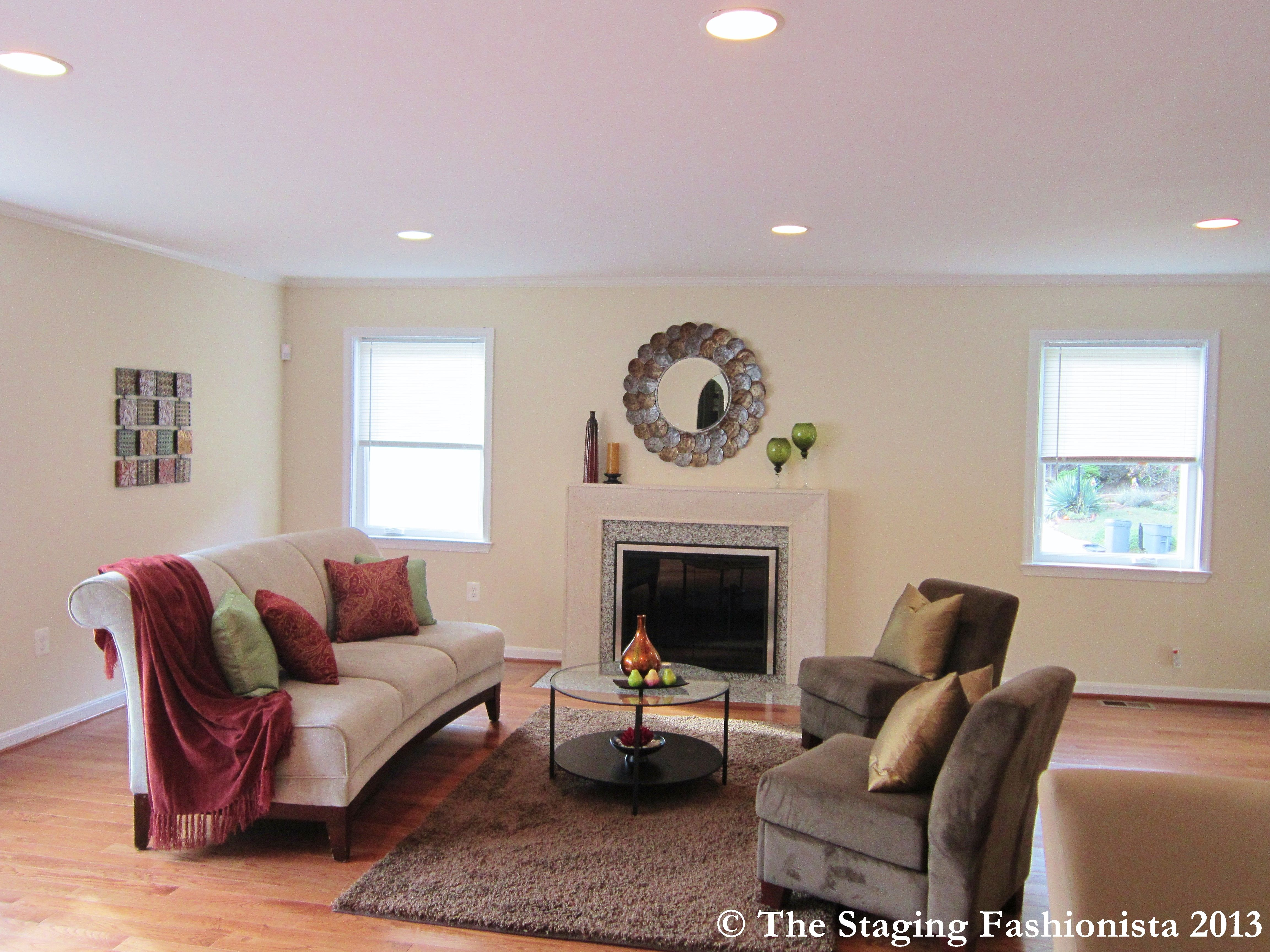 Staged Living Room   Home Staging Ideas   Pinterest