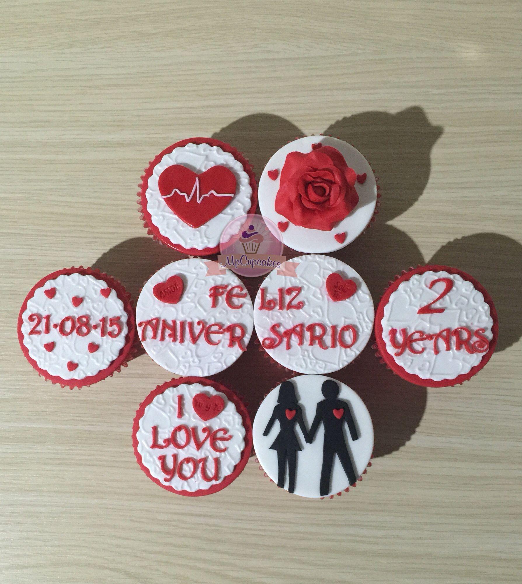 Cupcakes De Aniversario Cupcakes De Amor Cupcakes Con Mensaje