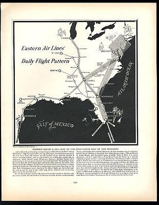 60 Eastern Airlines USA Daily Flight Pattern Map 60 Beauteous Flight Pattern Map