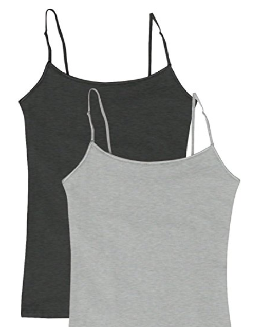 0f8ec2a4c6  3.95 Women s Camisole Built-in Shelf Bra Adjustable Spaghetti Straps Tank  Top Pack