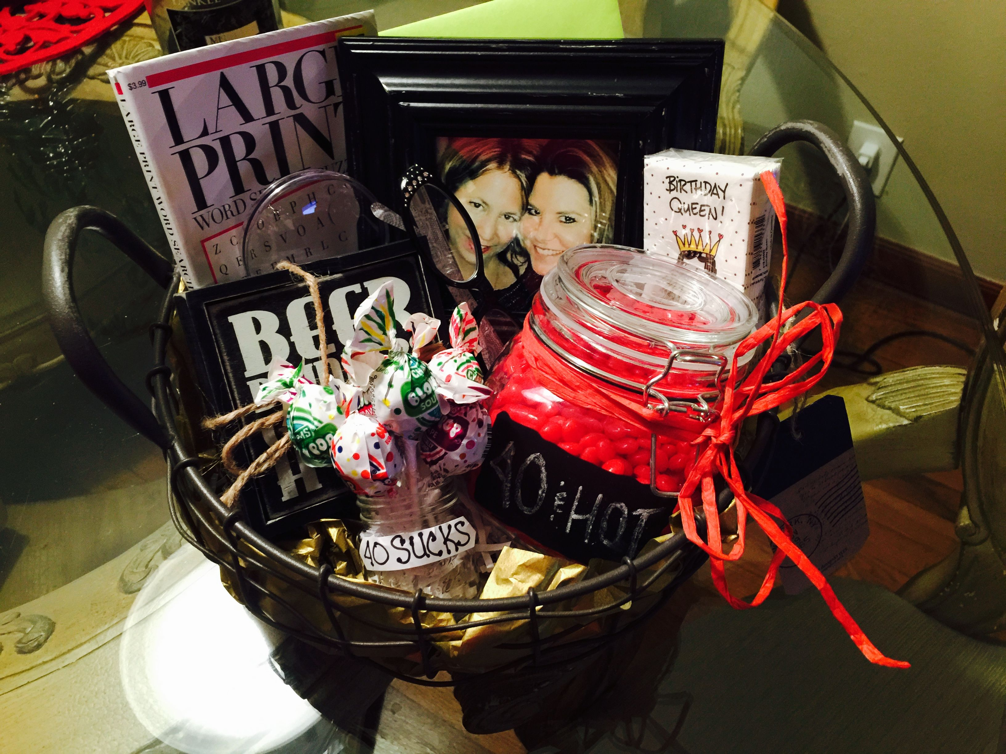 40th birthday gift basket for woman 40th birthday gifts