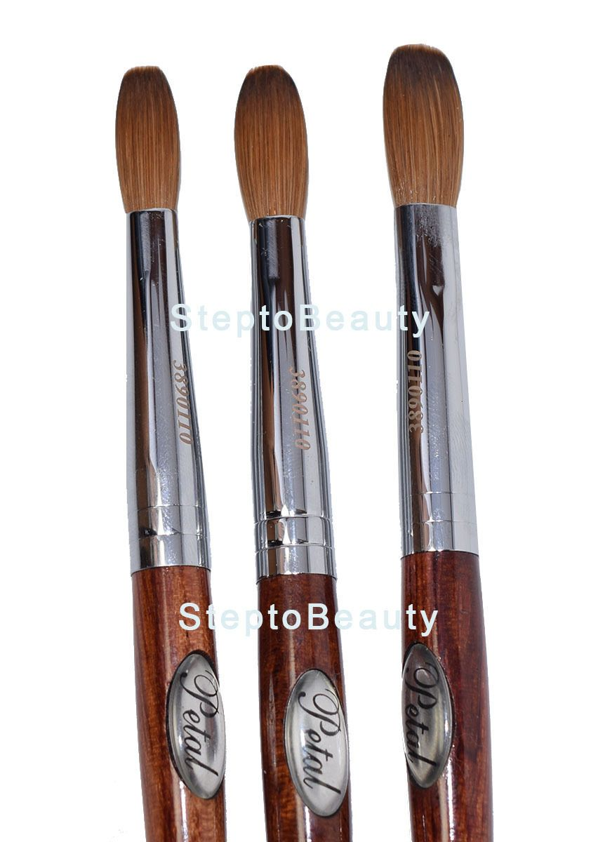Acrylic Powders And Liquids 182105 Petal Red Wood Handle Nail Brush For Manicure Pedicure Crimped It Now Only 16 95 On Ebay