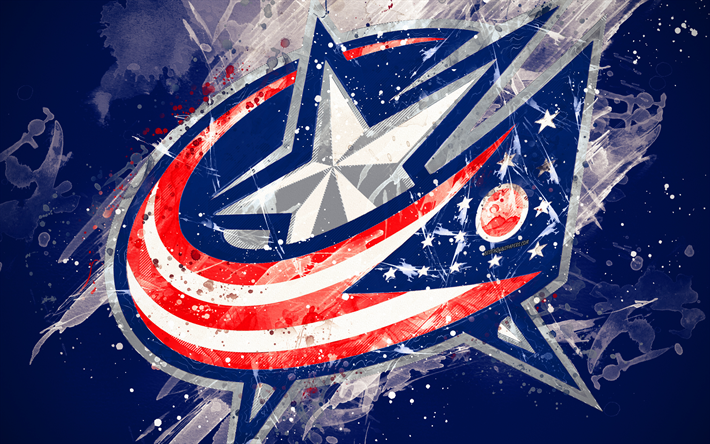 Download Wallpapers Columbus Blue Jackets 4k Grunge Art American Hockey Club Logo Blue Background Creative Art Emblem Nhl Columbus Ohio Usa Hockey In 2020 Columbus Blue Jackets American Hockey Grunge Art