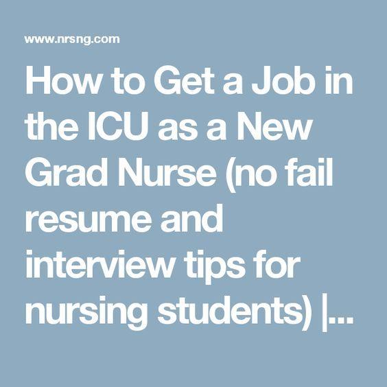 How to Get a Job in the ICU as a New Grad Nurse (no fail