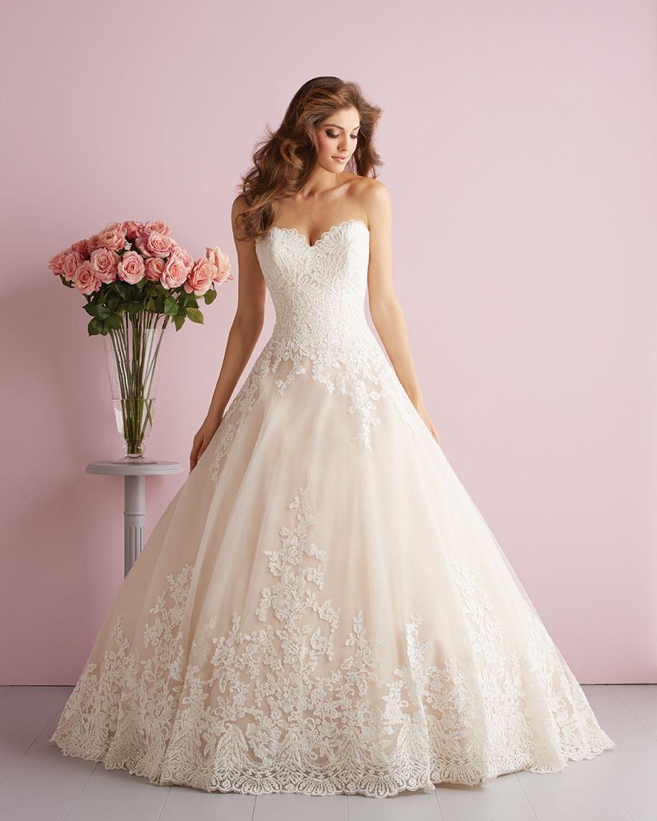 Brautkleid Allure Bridals Spitze Prinzessin  Kleider hochzeit