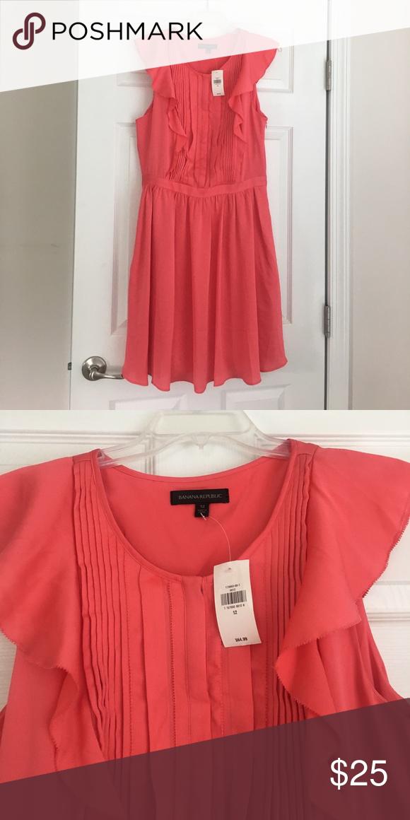 Pink Nwt banana republic dress Summer pink dress.  NWT size 12 Banana Republic Dresses