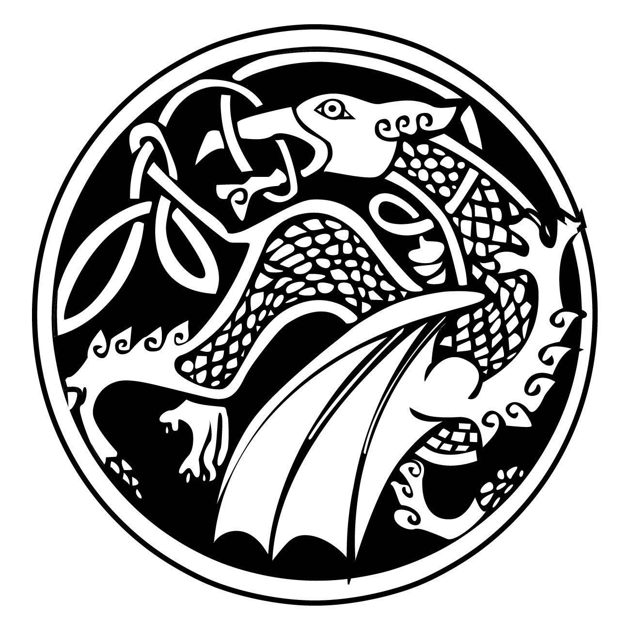 Celtic dragon wall art decal as10027 celtic dragon and wall celtic dragon wall art decal as10027 ebay buycottarizona Image collections