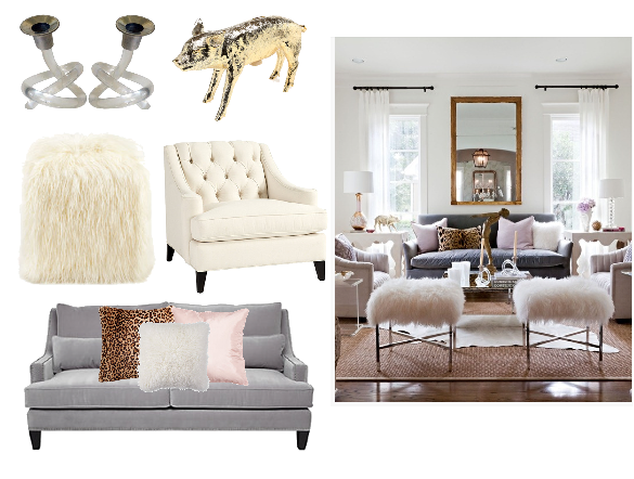 GET THE LOOK GIRLY GLAM LIVING ROOM Photo Sally Wheat Interiors We Can