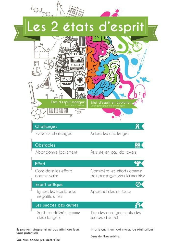 Growth Mindset Poster in French | School | Pinterest | Growth ...