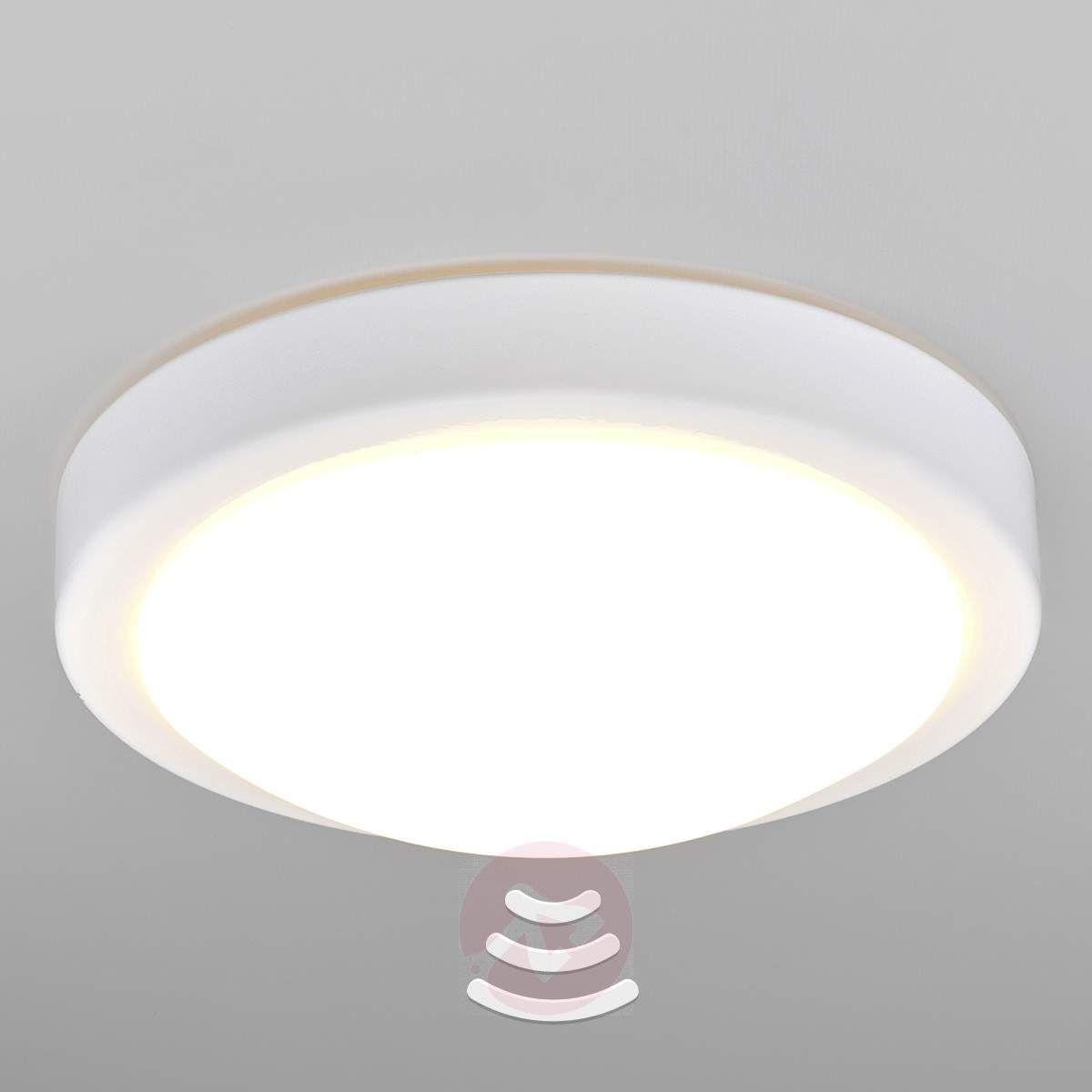 Badezimmer-LED-Deckenlampe Aras mit Sensor, weiß-Sensor ...