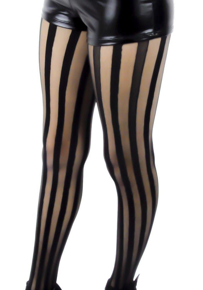 911feab6359 Freakshow Black   Sheer Vertical Stripe Pantyhose Tights