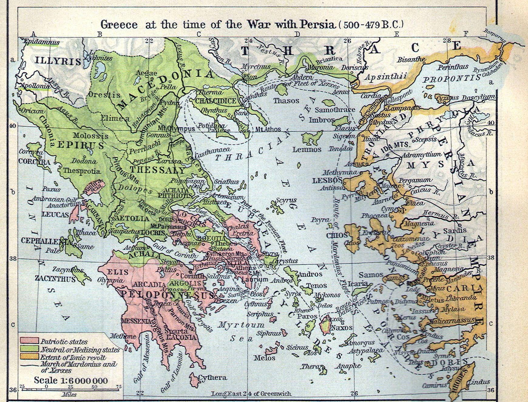 1903 old antique map of ANCIENT WORLD empire GREECE Greek TURKEY history atlas 5