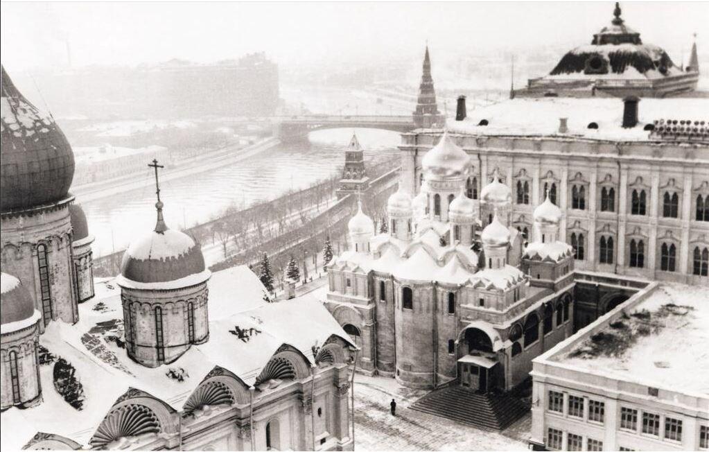 Вид с Колокольни Ивана Великого. Москва. 50-е. | Старые ...