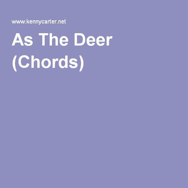 As The Deer (Chords) | PIANO LESSONS | Pinterest | Piano lessons and ...