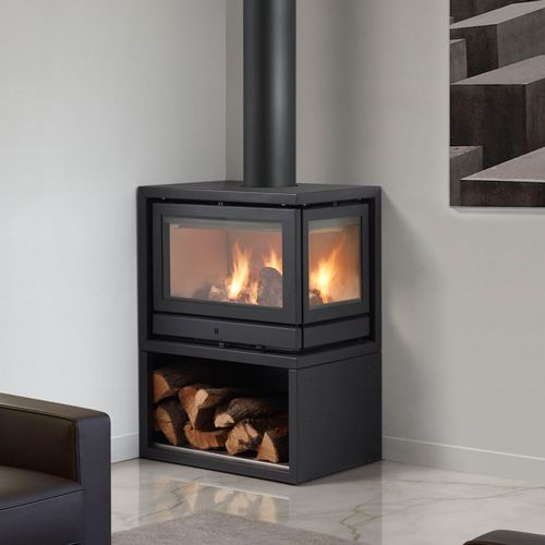 Corner Wood Burning Stove Functional And Interior: Rocal Habit L Wood Burning Corner Stove