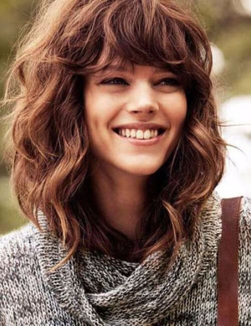 hairstyles for curly hair bangs | Pelo Bonito | Pinterest | Curly ...