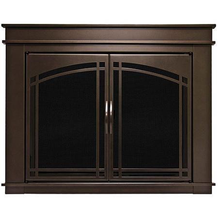 Pleasant Hearth Farlane Cabinet Prairie Arch Style Fireplace Glass Door, Oil Rubbed Bronze, Large, FA-5702 - Walmart.com