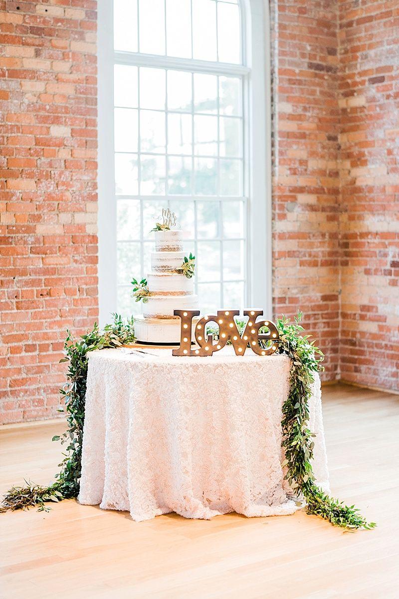 Rachel Eric Durham Nc Cotton Room Wedding Wedding Cake Table Decorations Wedding Cake Display Wedding Reception Cake