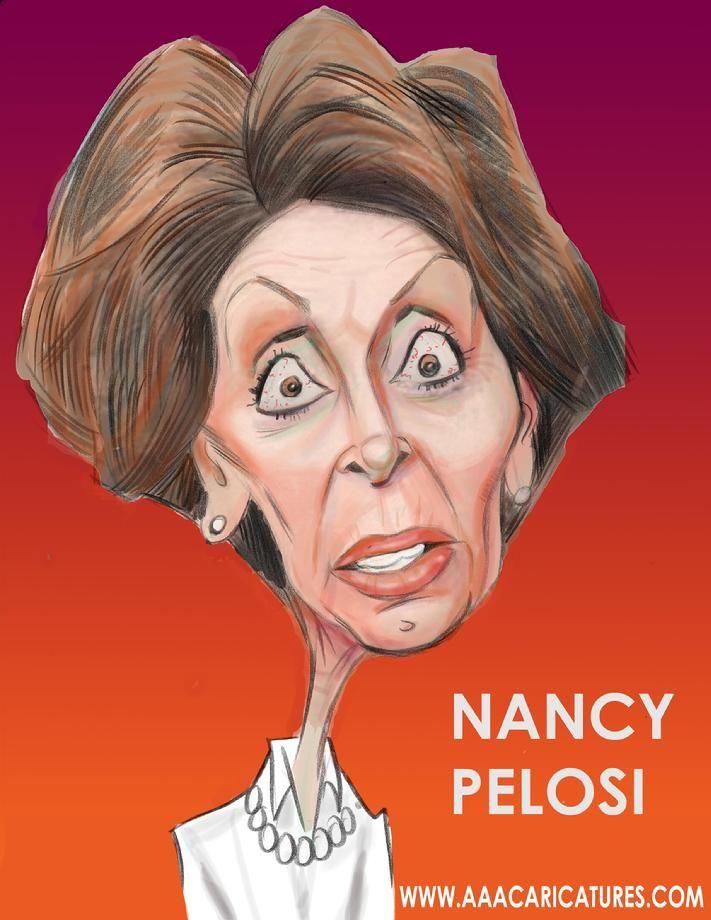 Resultado de imagen para Caricatura de la Pelosi