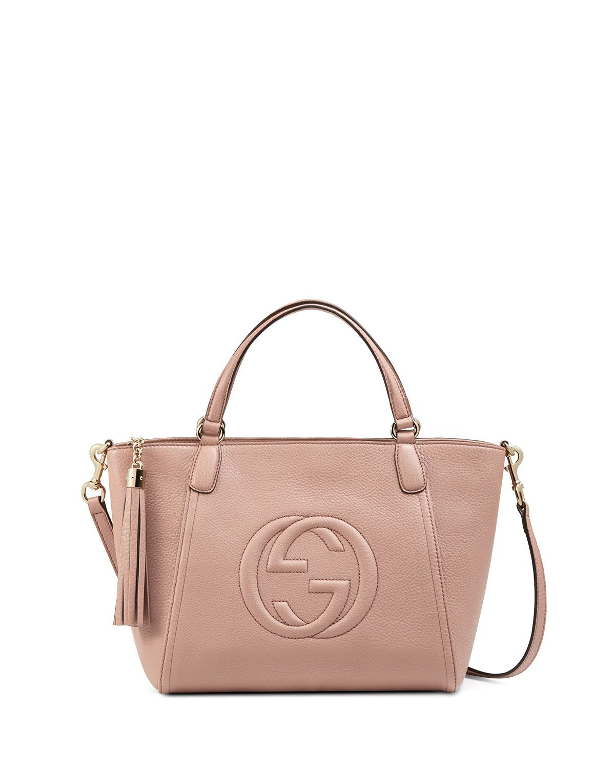 85b72073859d Gucci Soho Small Crossbody Tote, Dark Cipria Rose, Women's ...