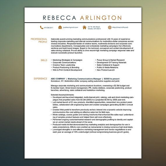 Get Hired Resume Template Microsoft Office by ScribbledNapkin