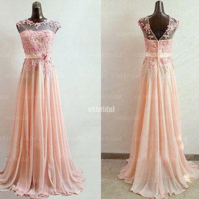 Blush Pink Chiffon Dress