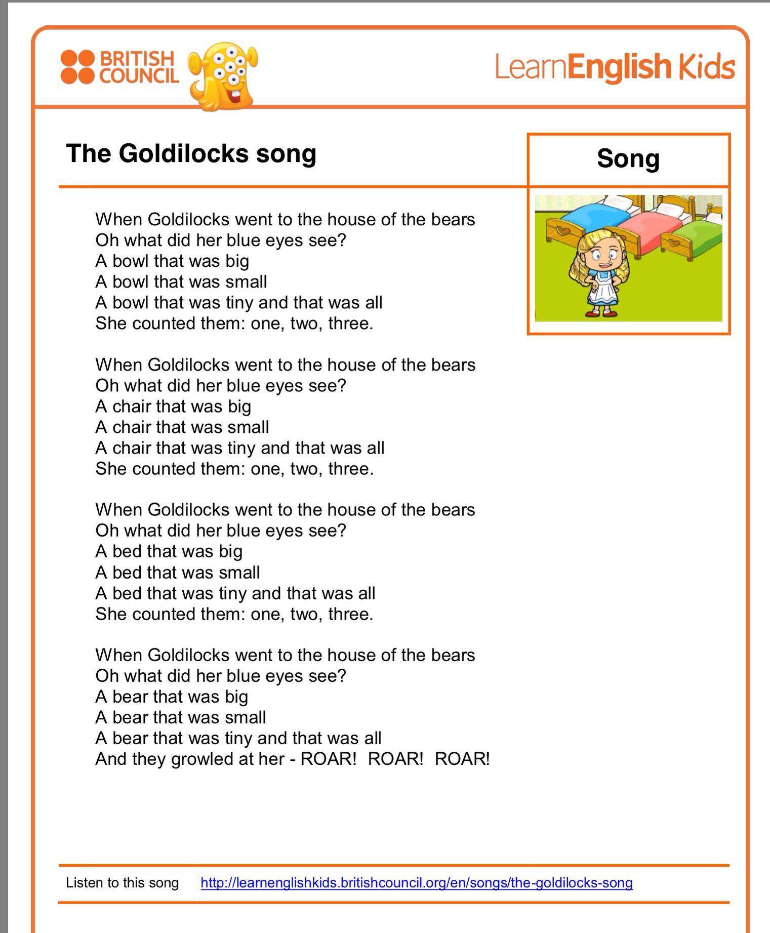 Goldilocks And The Three Bears Song Fairy Tales For Kids Bear Songs Goldilocks And The Three Bears [ 1843 x 1521 Pixel ]