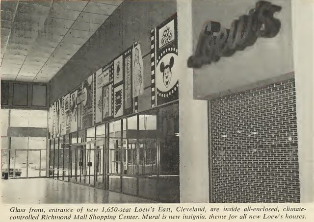 Loew S East Mall Facade Richmond Mall 1966 Richmond