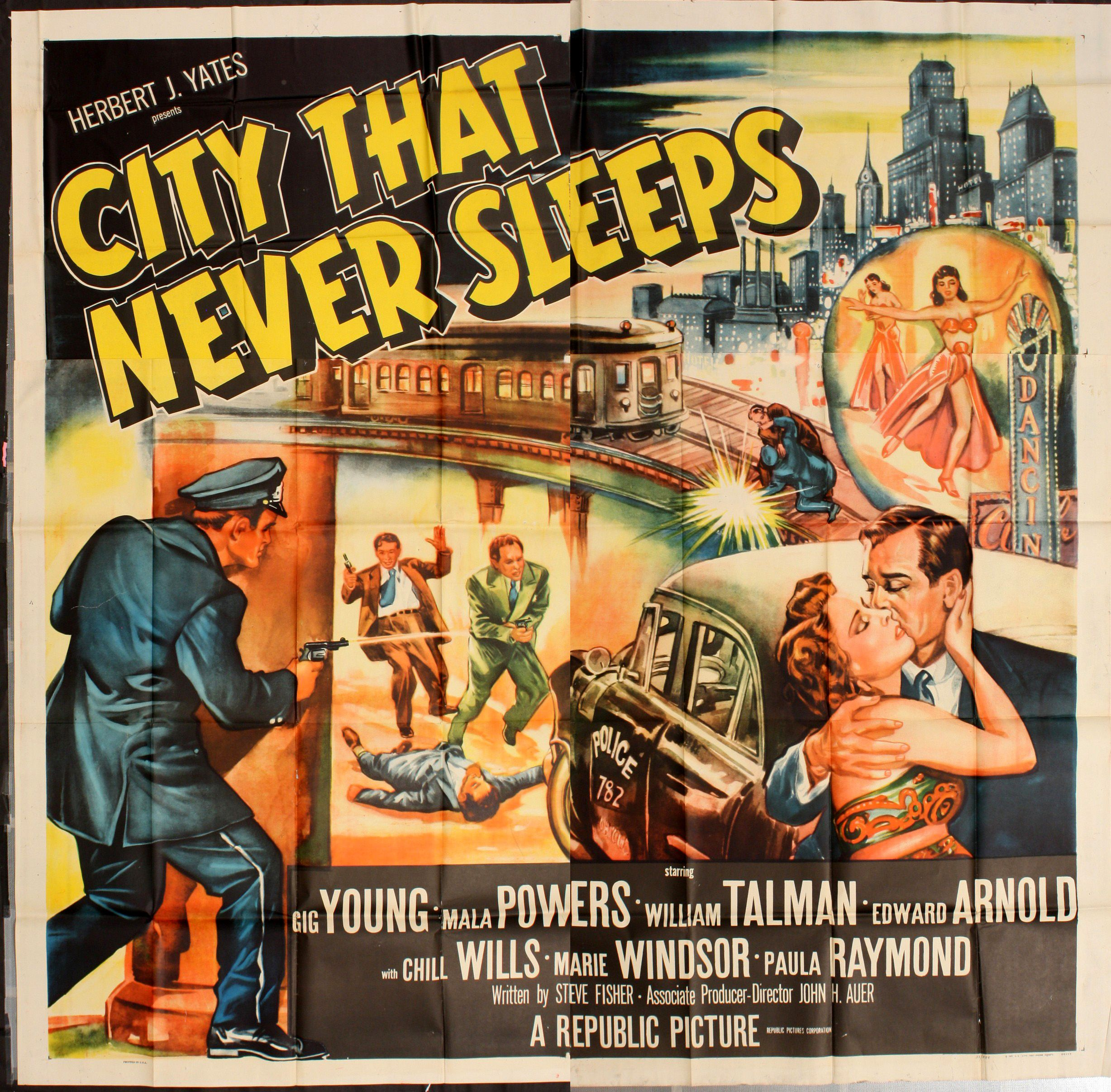 City That Never Sleeps (1953) | Classic movie posters, Republic ...