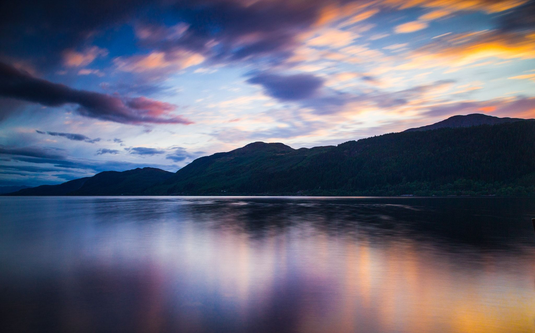 Loch Ness Sunset - This shot was taken during an unbelievable sunset at Loch Ness, while tons of midges were eating me!