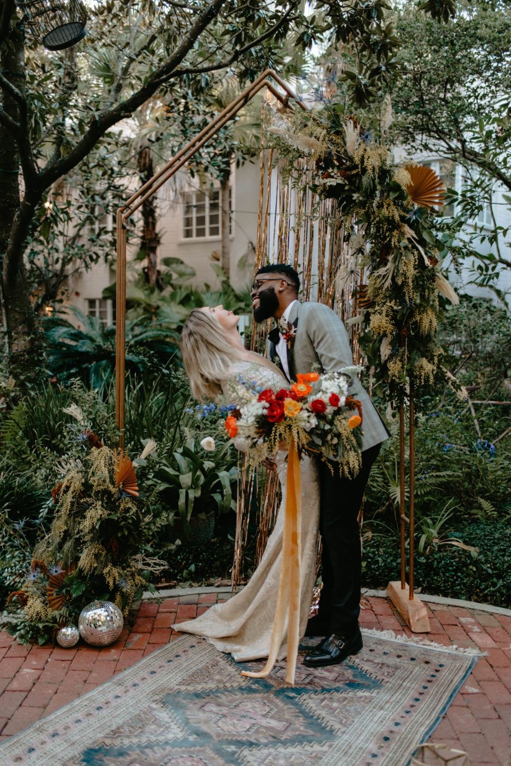 Colorful Hidden Oasis Wedding Inspiration For Two In Florida In 2020 Wedding Colorful Wedding Bouquet Styled Shoot