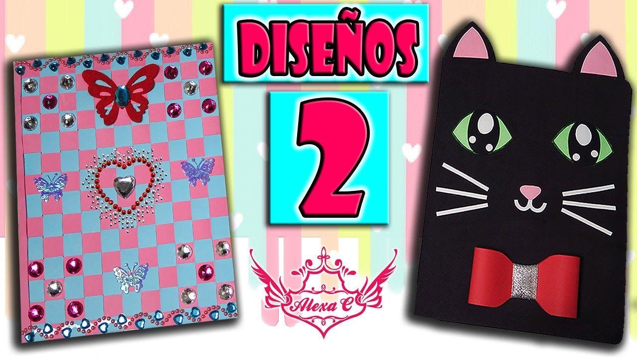 ♥ Tutorial: 2 Diseños de Cuadernos/Libretas ♥