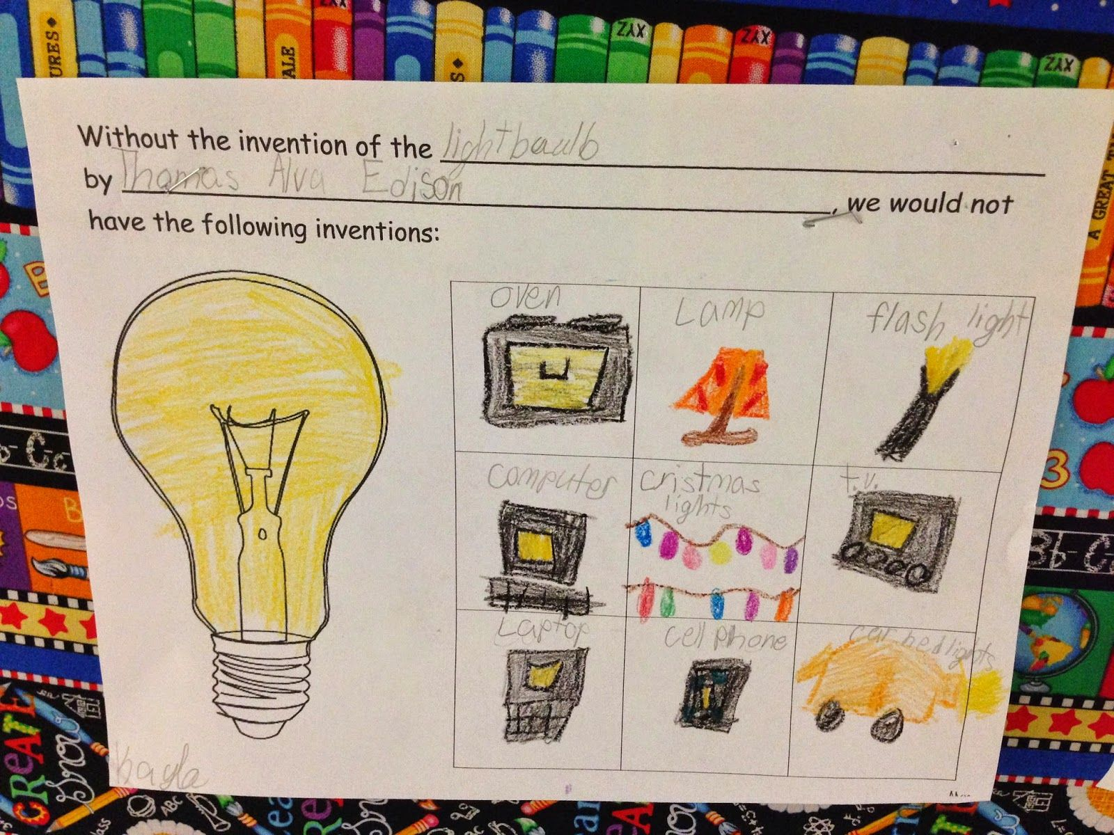 Pin By Lisa Miller On Science First Grade Science Light Science Thomas Edison Activities [ 1200 x 1600 Pixel ]