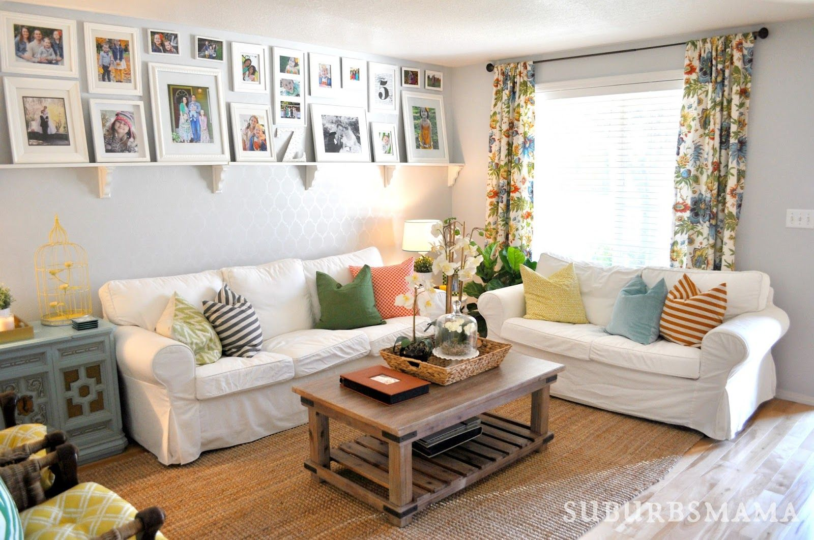 Suburbs Mama: Living Room Updates | Ektorp Living Room, Living Room White, Cheap Living Room Furniture