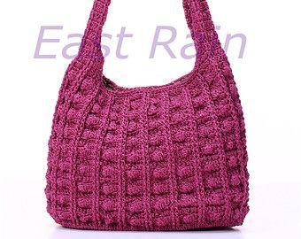 Crochet Bag Shoulder Handbag Handmade Purse Give Thank Gift Idea Piercing Party
