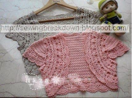 Steps crocheted bolero Girls - tailoring and detail   Crochet ...