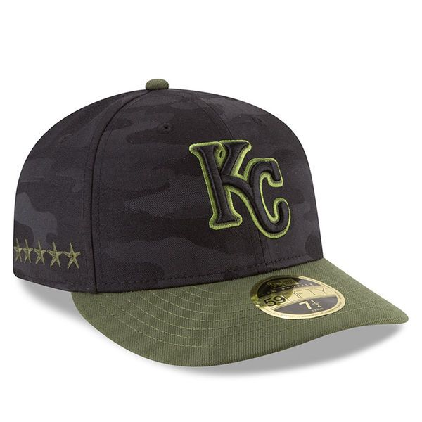 Kansas City Royals New Era 2018 Memorial Day On-Field Low Profile 59FIFTY  Fitted Hat ee8488ab309