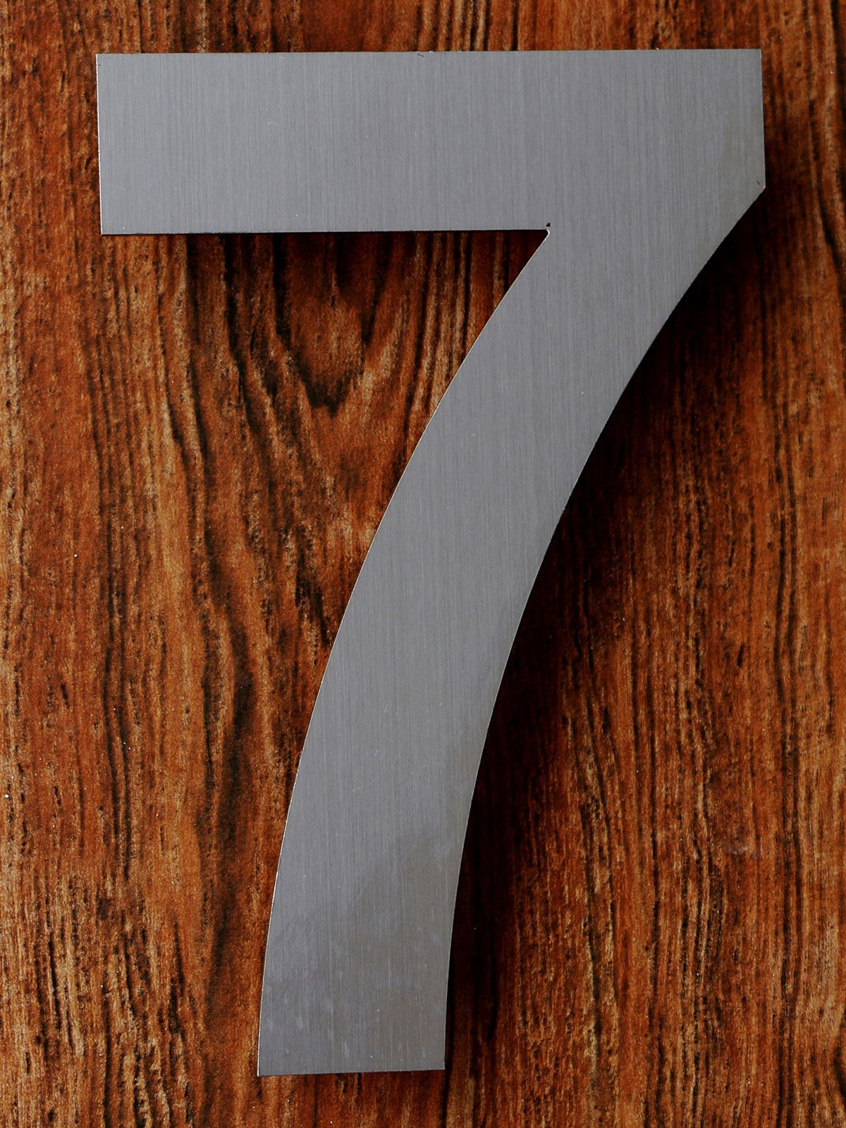Qt modern house number 6 inch brushed stainless steel number 7 seven