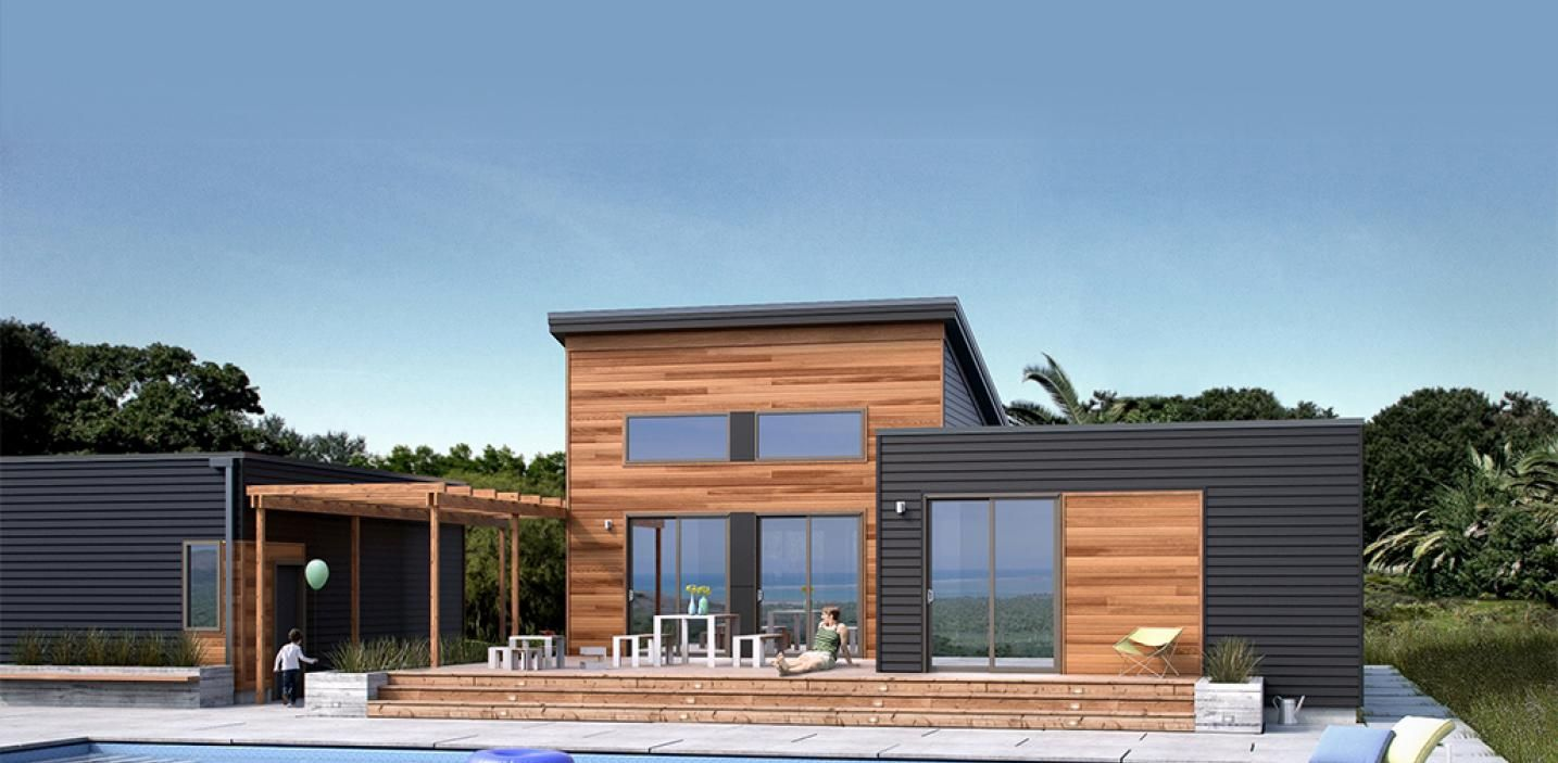 My husband is DETERMINED to own this home!  Can you believe its pre-fab?!   Breeze Aire | Blu Homes