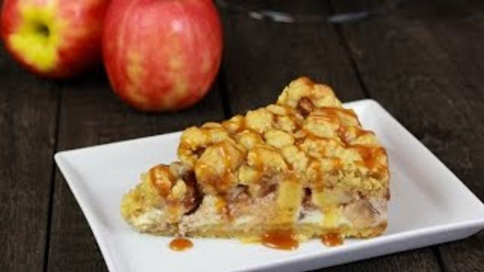 Apfel-Wallnuss Käsekuchen