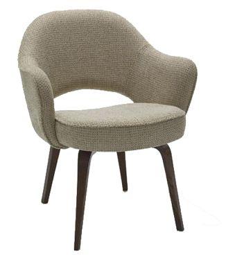 Saarinen Executive Arm Chair With Wood Legs